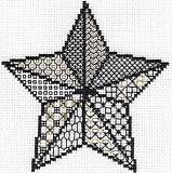 Star 5 Pointed Blackwork Card
